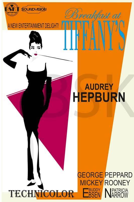Cuadros en lienzo Breakfast at tiffany's Audrey Hepburn
