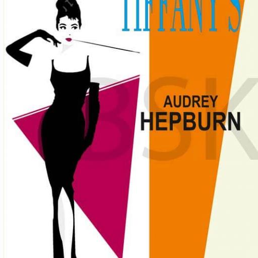 Cuadros en lienzo Breakfast at tiffany's Audrey Hepburn