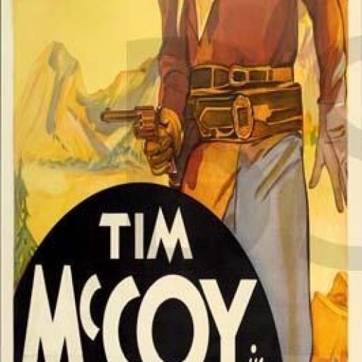 Cuadro en lienzo alargado películas oeste Tim Mc Coy