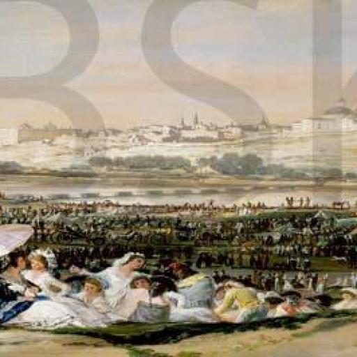 Cuadro en lienzo para cabecero Pradera de san Isidro Goya