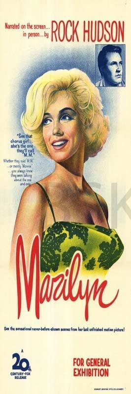 Cuadr o en lienzo alargado Marilyn Monroe Rock Hudson