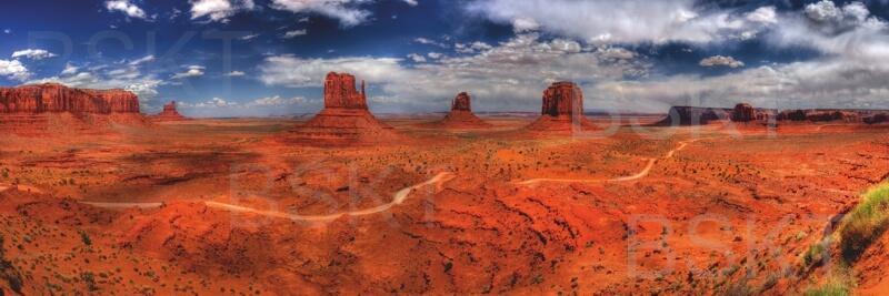 Cuadro en lienzo alargado desierto USA