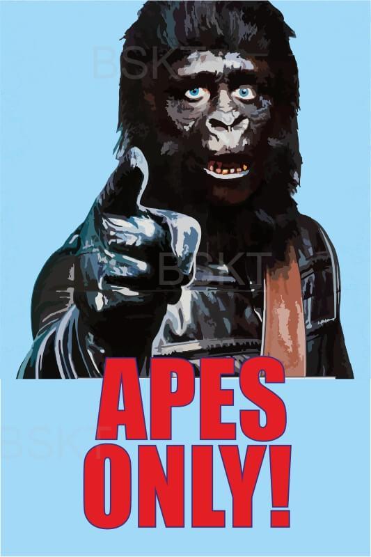 Cuadro películas planeta simios pop art para habitación