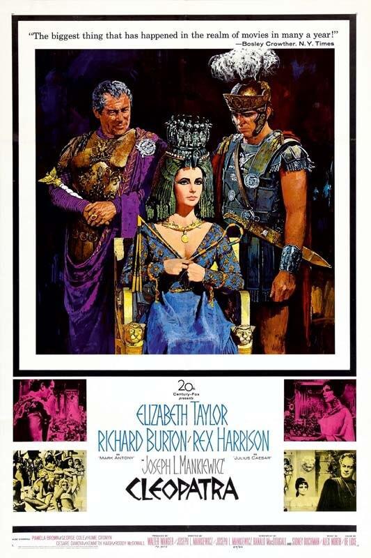 Cuadro en lienzo película clásica Cleopatra