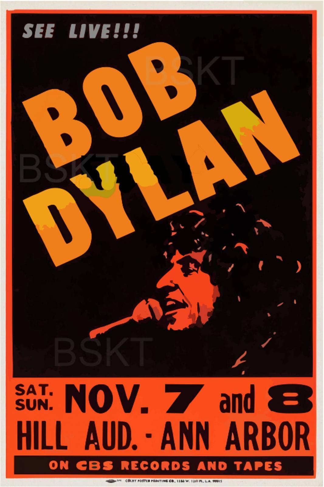 Cuadro en lienzo canvas Bob dylan concierto