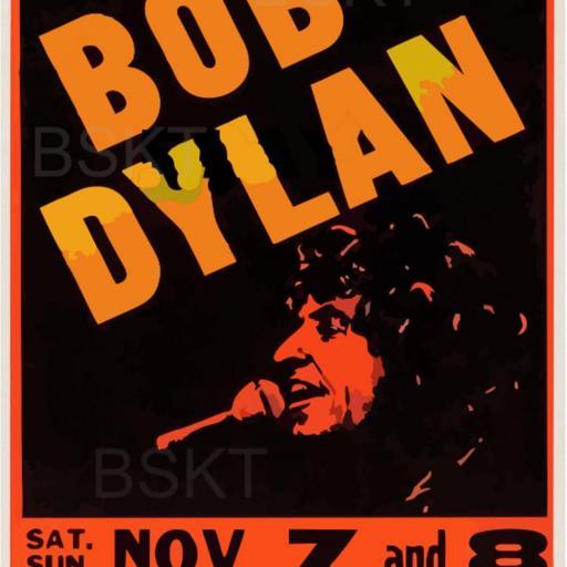 Cuadro en lienzo canvas Bob dylan concierto [0]