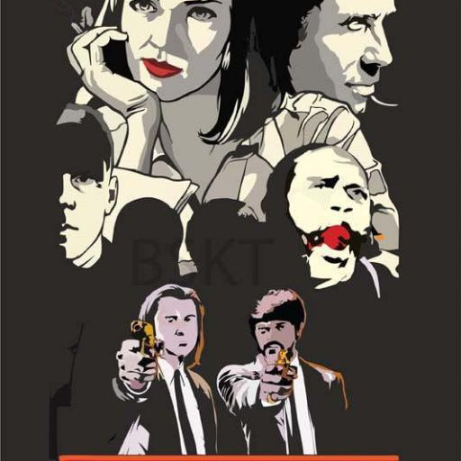 Cuadro en lienzo cartel alternativo película Pulp Fiction Travolta Turman