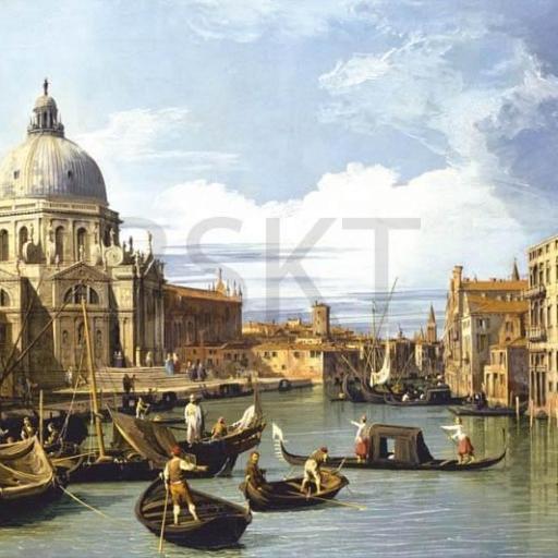 Cuadro en lienzo Venecia góndola Canaletto alta resolución