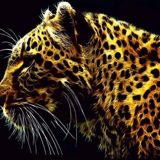 Cuadro en lienzo moderno leopardo para salón [0]
