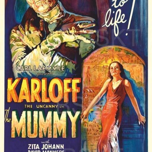 Cuadro en lienzo películas terror la momia Boris Karloff