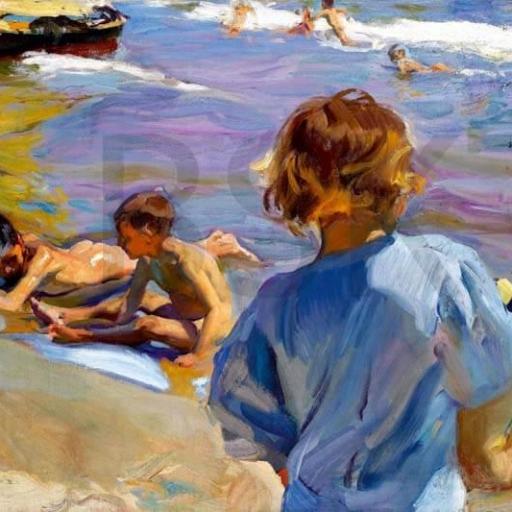 Cuadro en lienzo de Sorolla niños playa impresionismo [0]