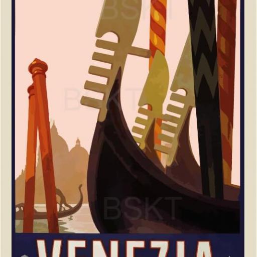 Cuadro en lienzo ciudades Venecia láminas póster