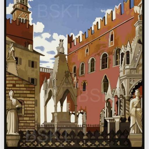 Cuadro en lienzo de Verona Italia