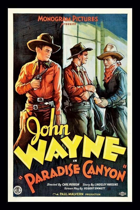 Cuadro en lienzo clásico película John Wayne Paradise Canyon