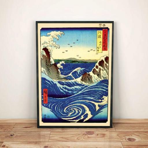 Cuadro en lienzo montado sobre bastidor pintura japonesa remolino [1]
