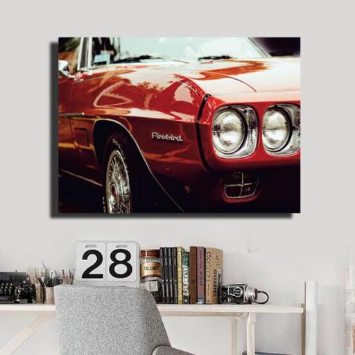 Cuadro en lienzo Pontiac firebird coche clásico  [1]