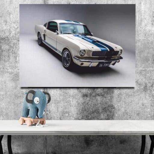 Cuadro en lienzo Ford mustang clásico blanco [1]