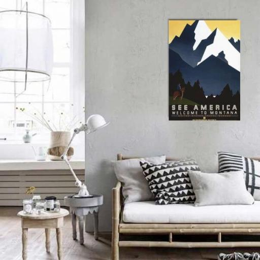 Cuadro en lienzo cartel anunciador Montana [1]