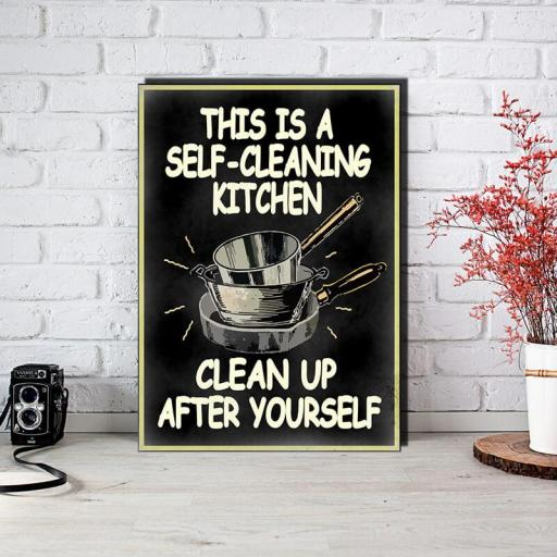 Cuadro en lienzo  This is a self cleaning kitchen clean up after yourself alta resolución [1]