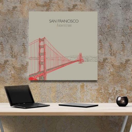 Cuadro en lienzo cuadrado arquitecture San Francisco [1]