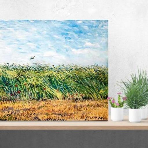 Cuadro en lienzo Van gogh campo de trigo con alondra [1]
