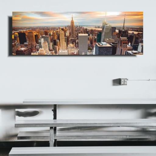 Cuadro en lienzo Nueva York ciudades 90 x30 cm para decorar [1]