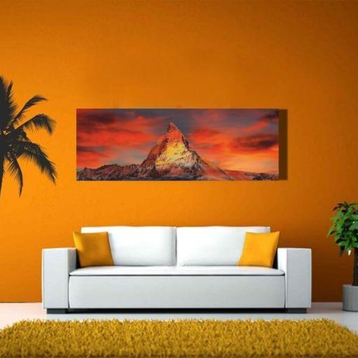 Cuadro en lienzo alargado rectangular para decorar montañas alpes [1]