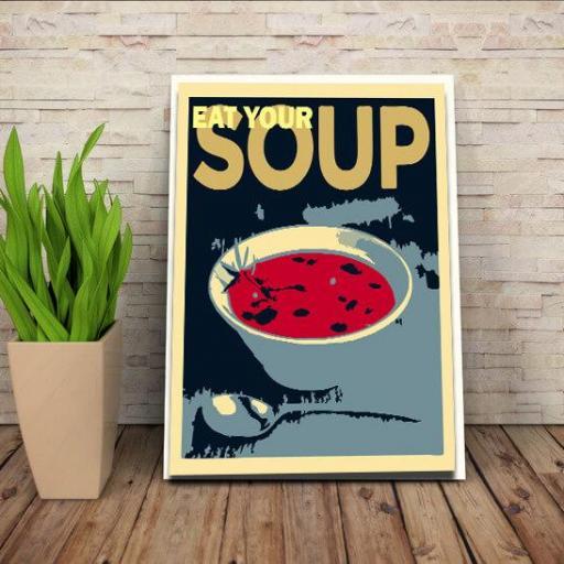 Cuadro en lienzo alta resolución Pop art Eatsoup [1]