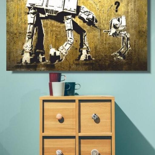 Cuadro en lienzo Banksy Star Wars [1]