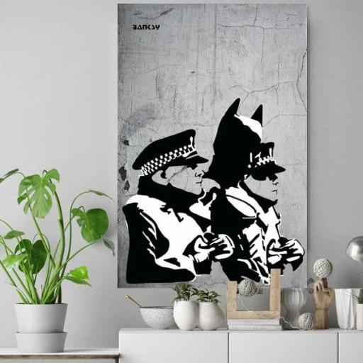Cuadro en lienzo Banksy Batman graffiti [1]