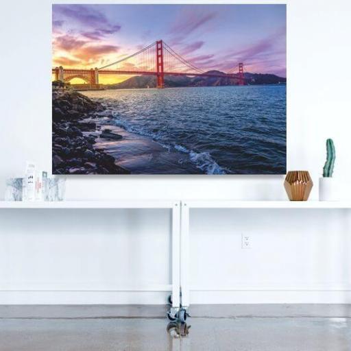 Cuadro en lienzo bahía de San Francisco tamaño grande [1]