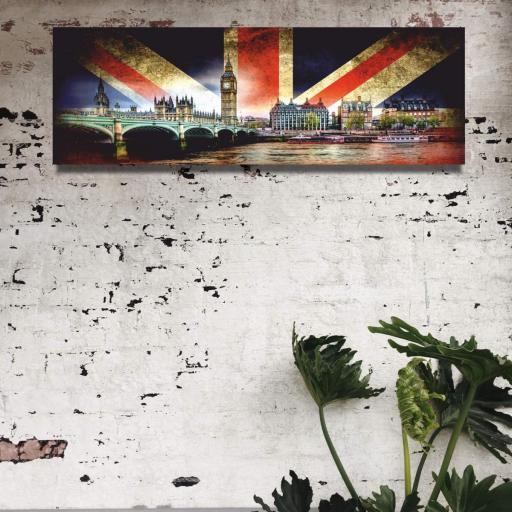 Cuadro en lienzo alargado Londres Big Ben [1]