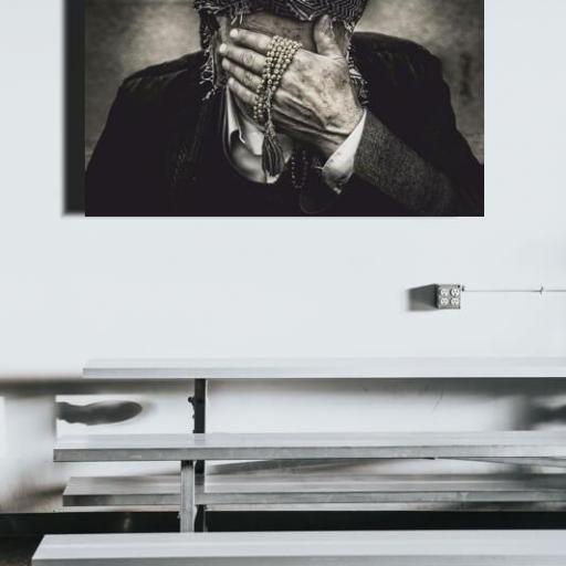 Cuadro en lienzo blanco y negro fotografía hombre [1]