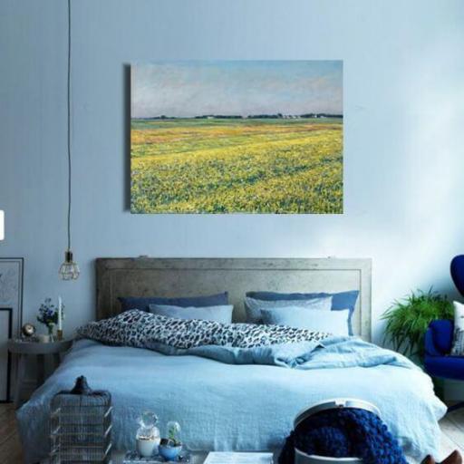 Cuadro en lienzo tamaño XXL grande apaisado pintura impresionista Calleiboite [1]