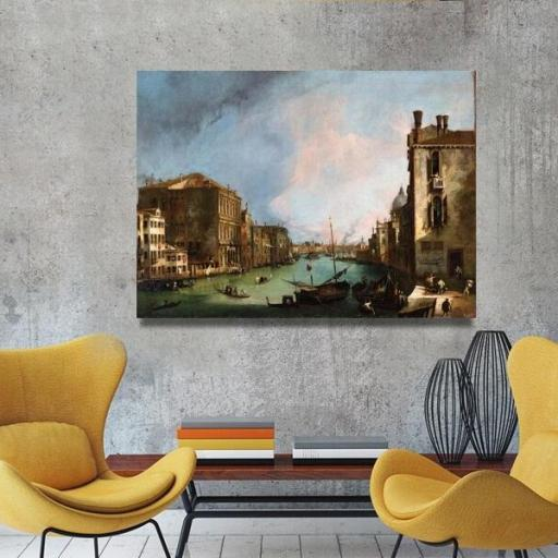 Cuadro en lienzo clásico de Venecia por Canaletto tamaño grande  [1]