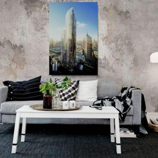 Cuadro en lienzo ciudades edificios rascacielos [1]