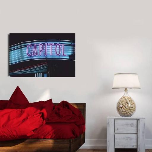 Cuadro en lienzo fotografía cine capitol Madrid detalle neon [1]