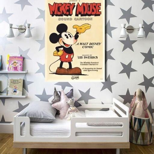 Cuadro lienzo canvas para decorar niños película clásica Disney  MIckey Mouse [1]