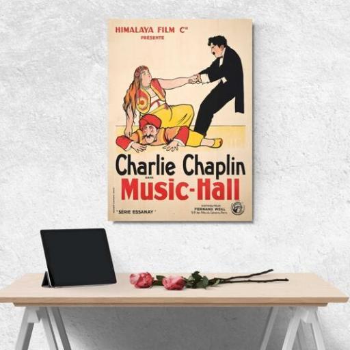 Cuadro en lienzo Charlie Chaplin Music Hall [1]