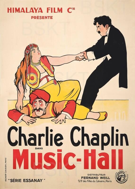 Cuadro en lienzo Charlie Chaplin Music Hall