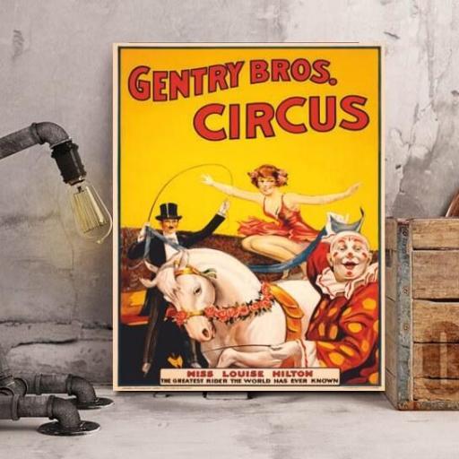 Cuadro en lienzo Gentry Bros. Circus [1]