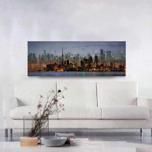 Cuadro en lienzo grande para decoración perfil de ciudad  [1]