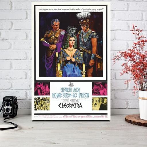 Cuadro en lienzo película clásica Cleopatra  [1]