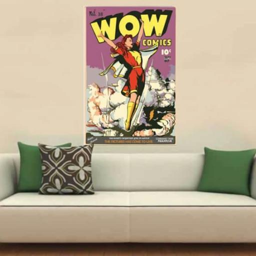 Cuadro en lienzo moderno Wow cómic pop art [1]