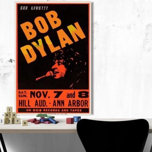 Cuadro en lienzo canvas Bob dylan concierto [1]