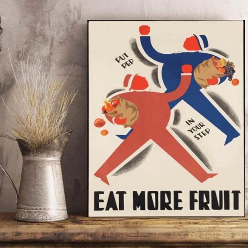 Cuadro en lienzo para cocina Eat fruit come fruta  [1]