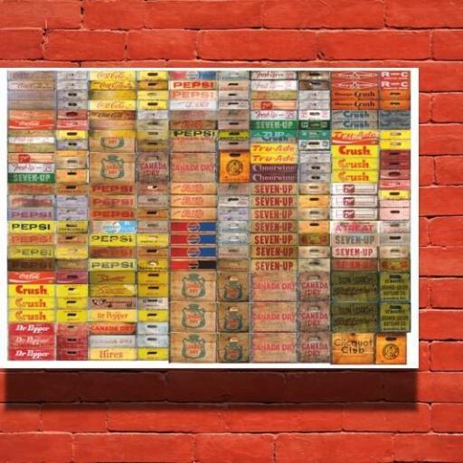 Cuadro en lienzo cajas de bebidas [1]