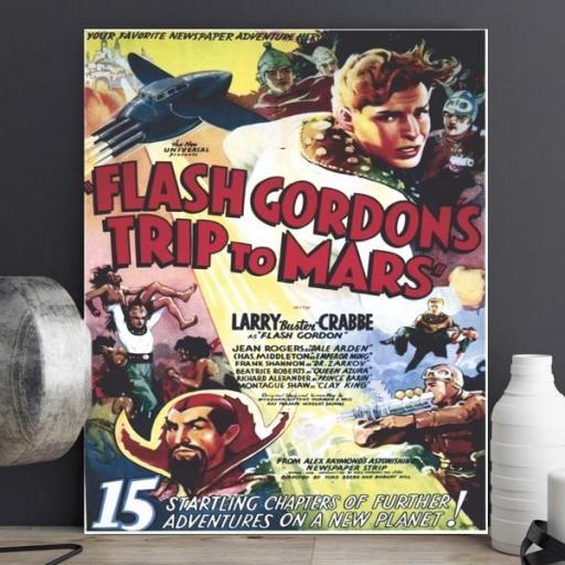 Cuadro en lienzo película Flash Gordon [1]