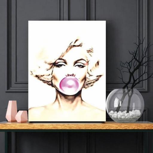 Cuadro en lienzo Marilyn globo chicle [1]