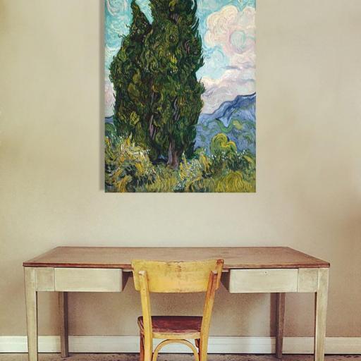 Cuadro en lienzo canvas decorativo Van Gogh cipreses alta resolución [1]